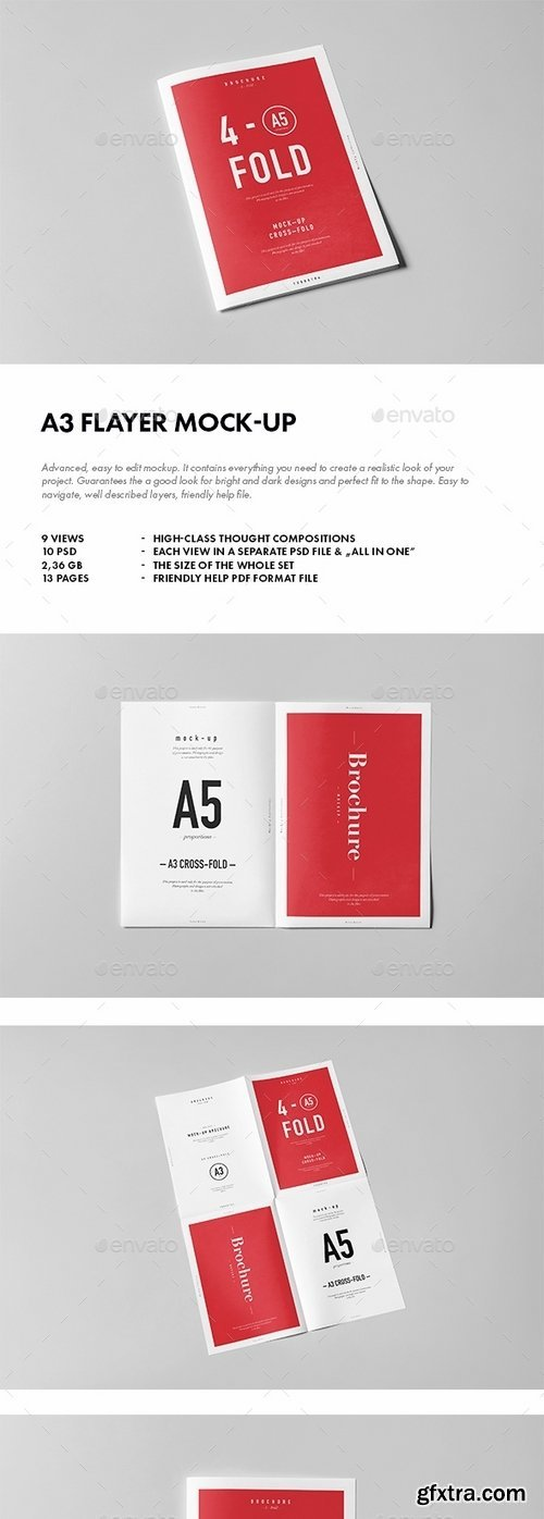 GraphicRiver - A3 Flyer Mock-up 14849079