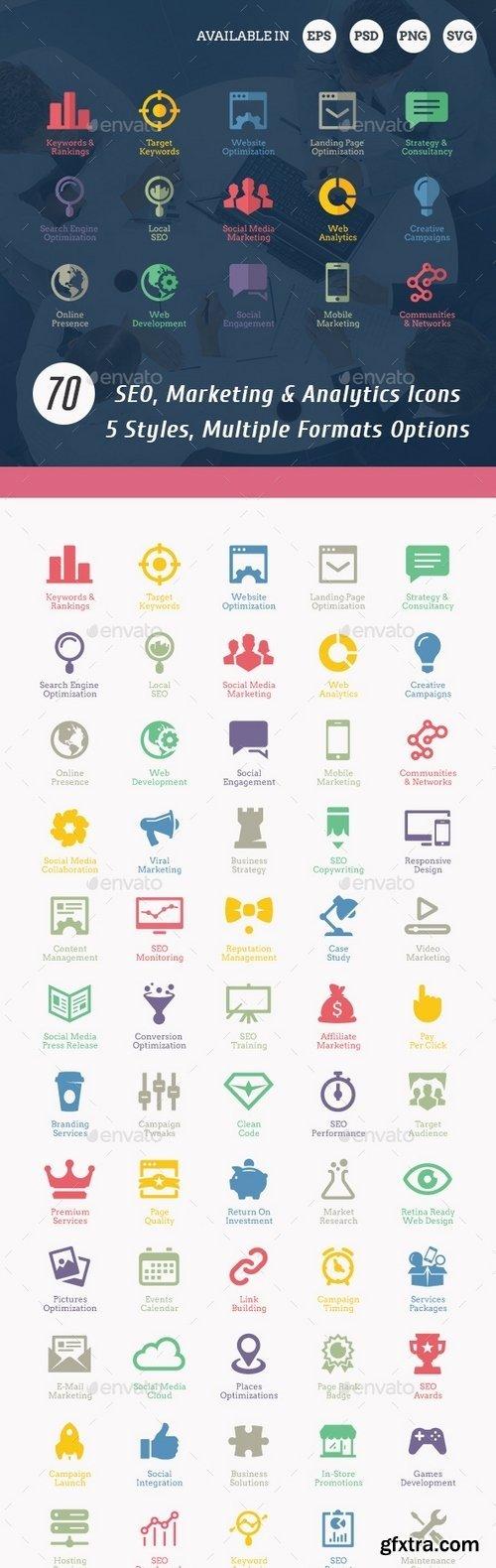 GraphicRiver - SEO Icons 3000523