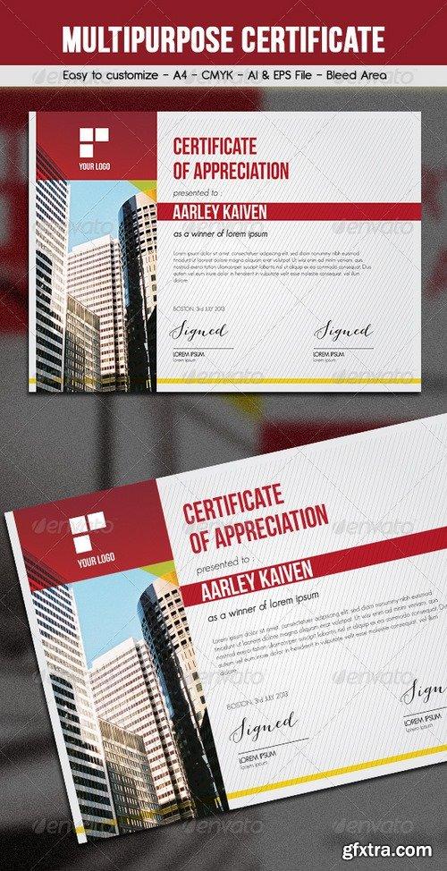 Graphicriver - Multipurpose Certificates 6374324