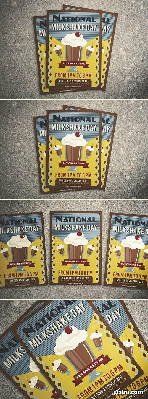 National Milkshake Day Flyer