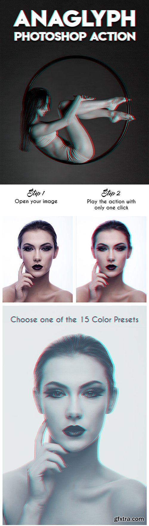 Graphicriver - Anaglyph Photoshop Action 20035998