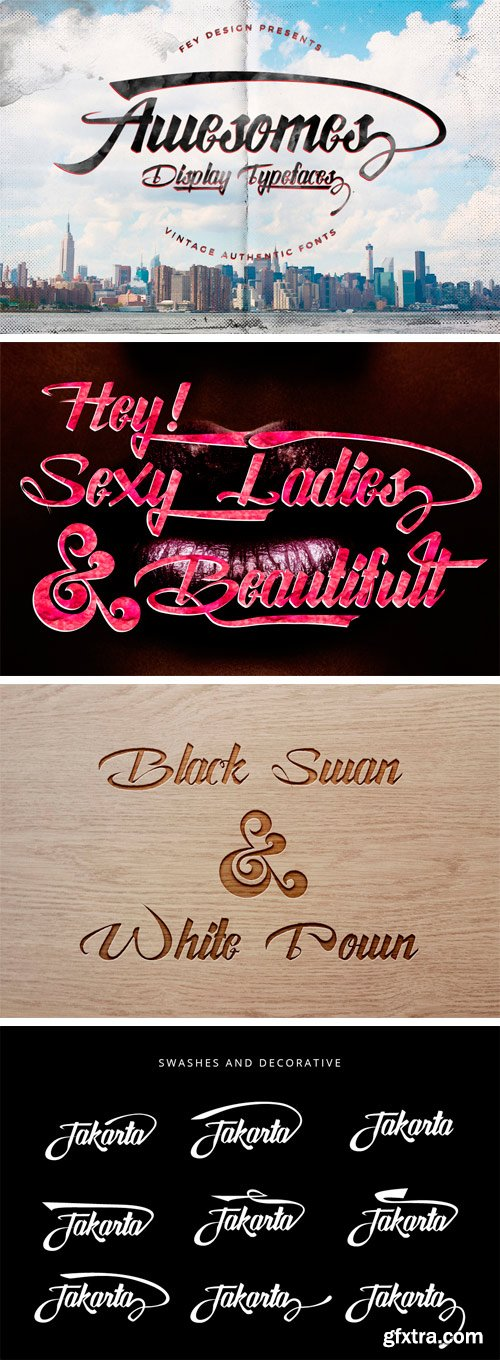 Awesome Script Font Family