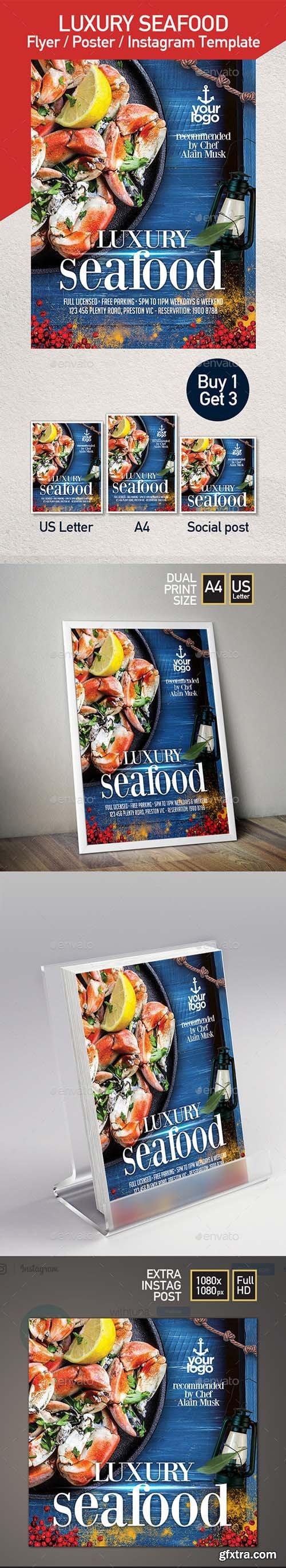 Seafood Restaurant - Set of 3 Flyer Templates 22314497