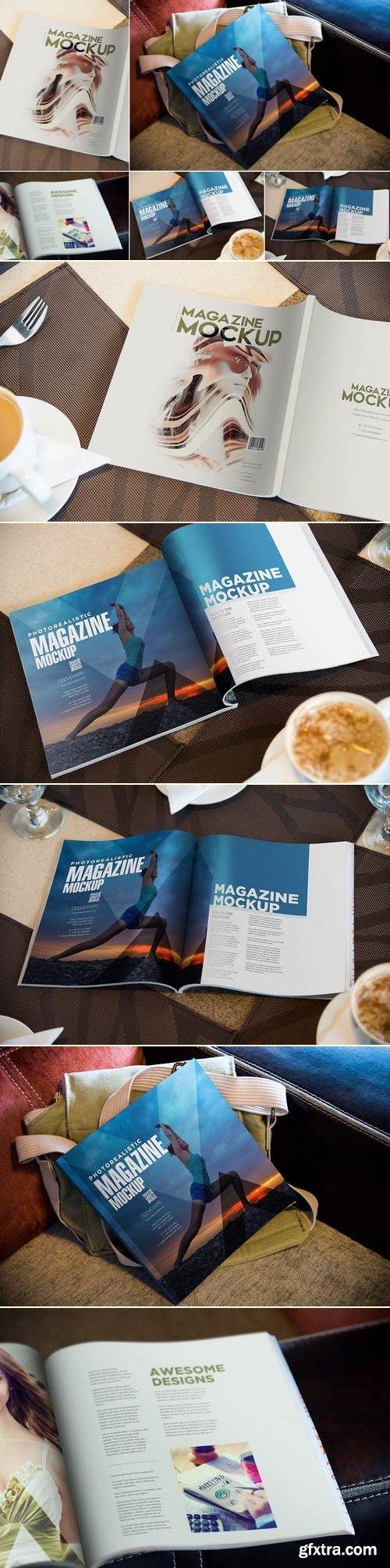 Square Fashion Magazine Mockup