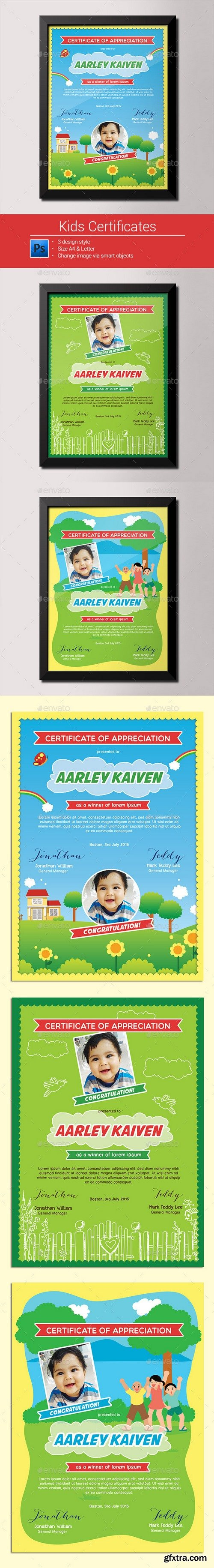 Graphicriver - Kids Certificates 9953804