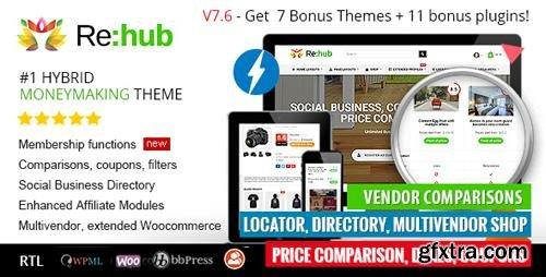 ThemeForest - REHub v7.6.7 - Price Comparison, Affiliate Marketing, Multi Vendor Store, Community Theme - 7646339 - NULLED
