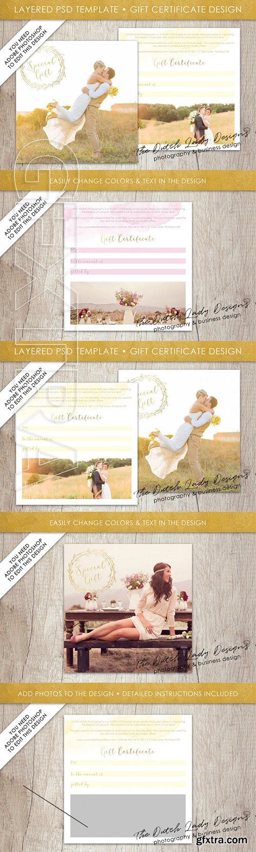 PSD Photo Gift Card Template 48