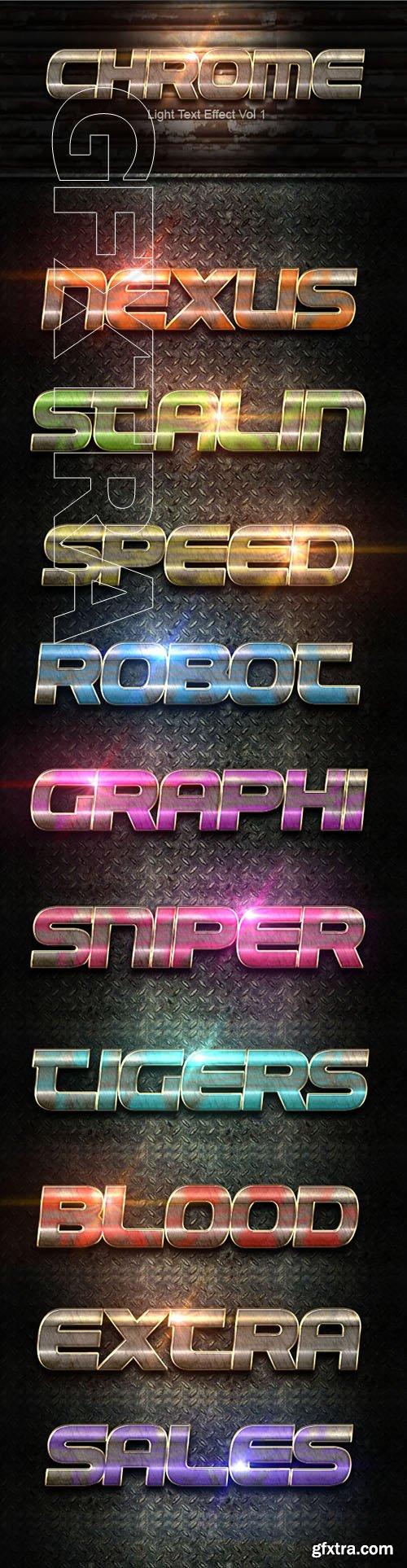 GraphicRiver - Chrome Light Text Effect 40 22223798