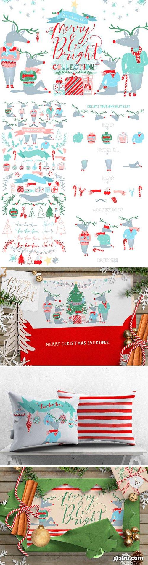 CM - Merry and Bright Christmas Clipart 421466
