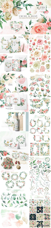 CM - Creme & Rose Watercolor Set 2749212