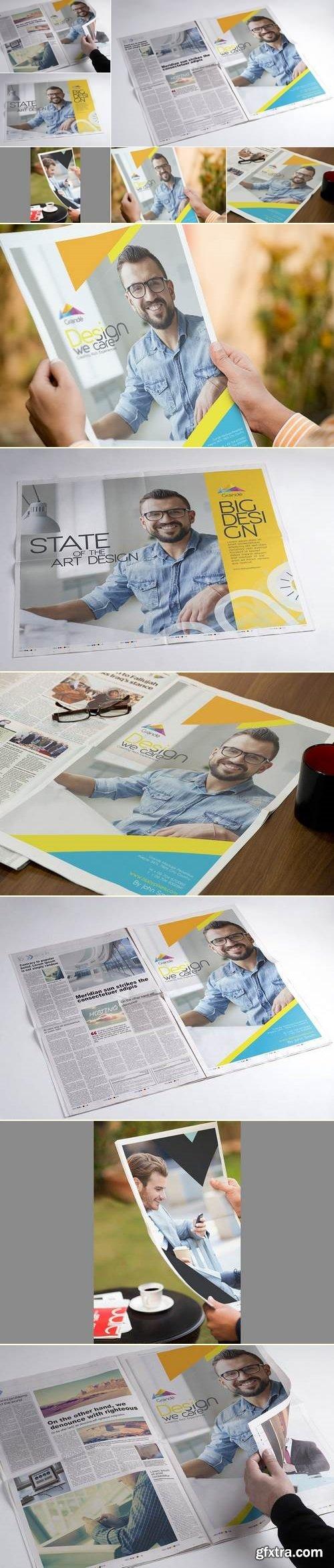 Full Page Newspaper Mockups