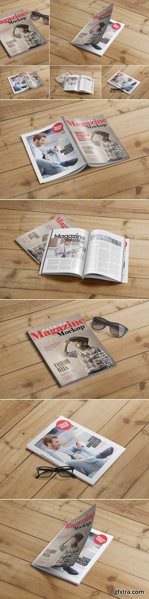 US Letter Size Magazine Mockup