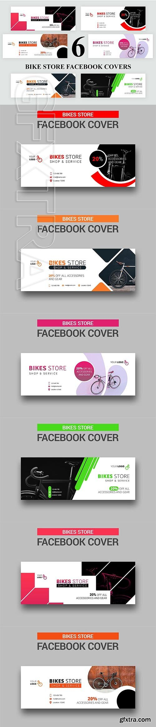CreativeMarket - Bike Store Facebook Templates 2768106