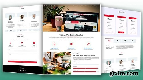 Bootstrap 4.1.2 Responsive Website Design From Scratch
