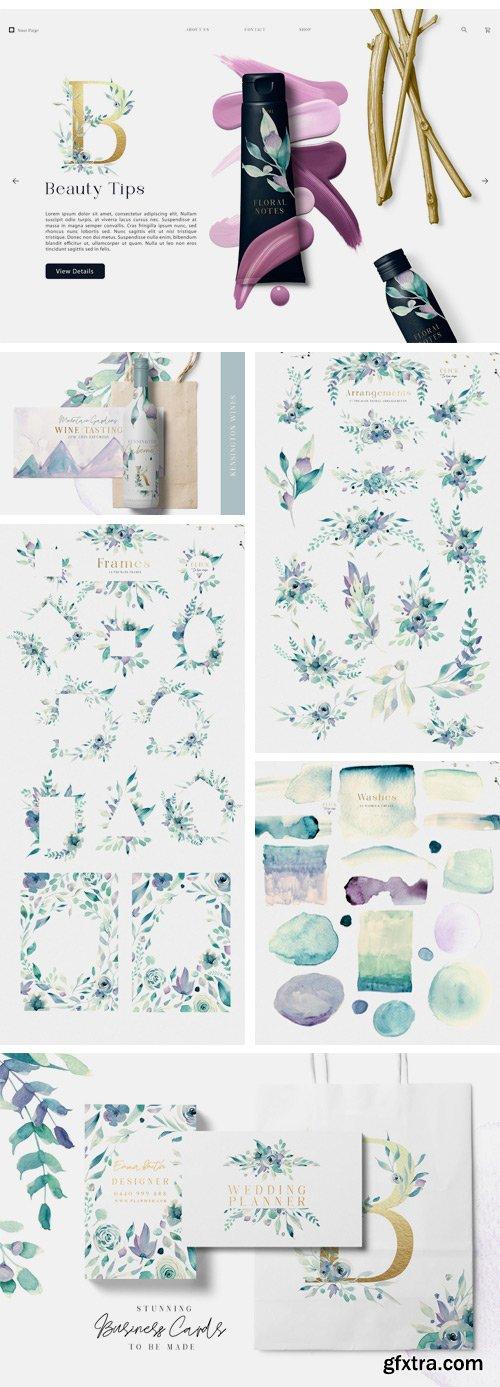 CM - A Mountain Summer Watercolor Set 2660103