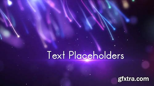 Colorful Elegant Particles Streamer Titles - After Effects 93588