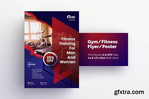 Fitness Training for Men & Women - Gym Flyer