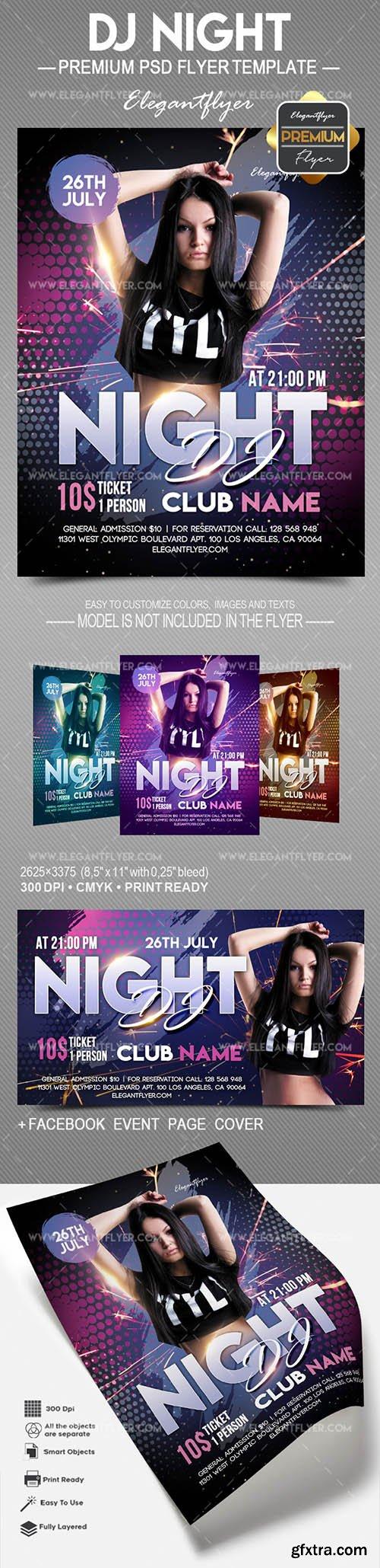 DJ Night – Flyer PSD Template