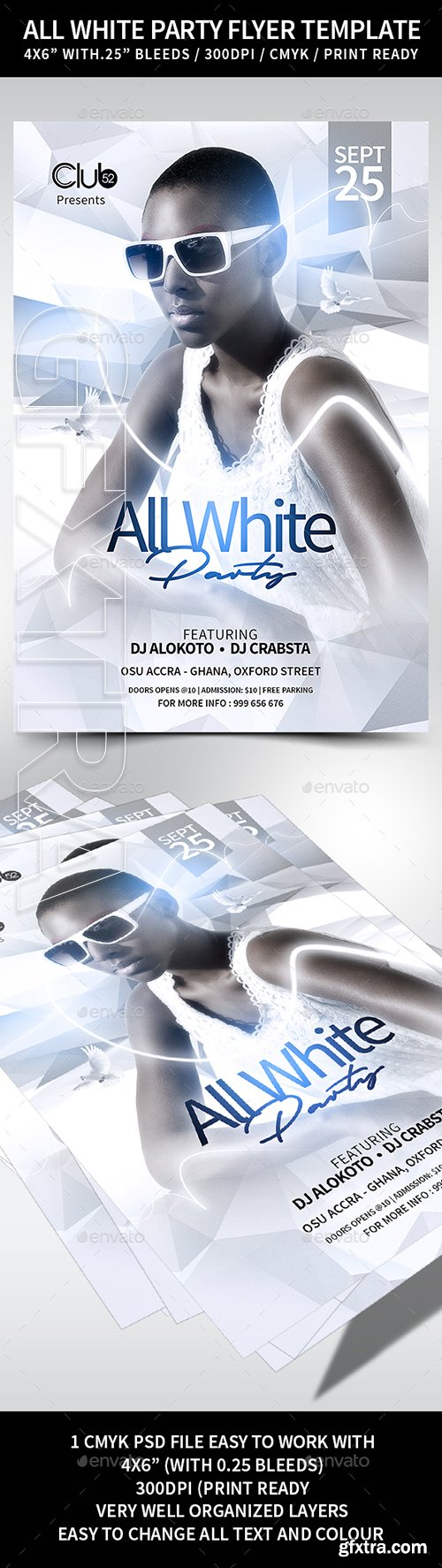 GraphicRiver - All White Party Flyer Template 22327048