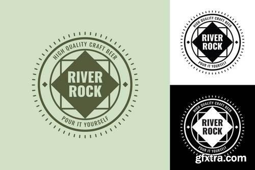 RiverRock Retro Logo Template