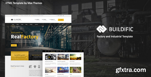 ThemeForest - Buildific v1.0 - Factory and Industrial HTML Template - 22301925