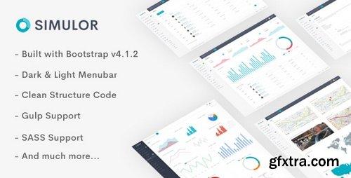 ThemeForest - Simulor - Minimal Admin & Dashboard Template - 22340224