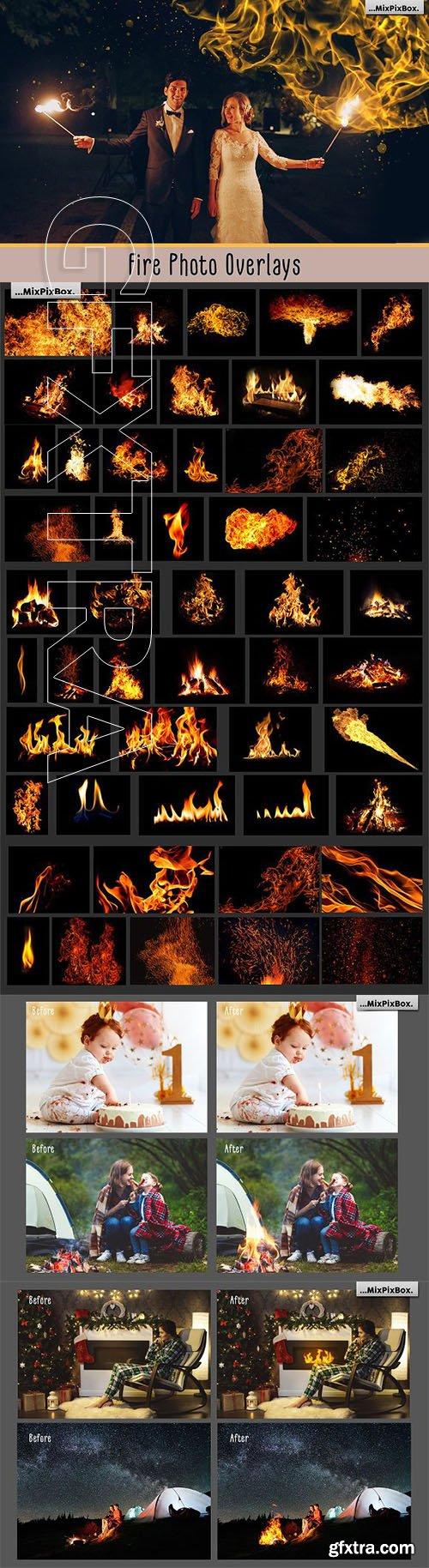 Fire Photo Overlays