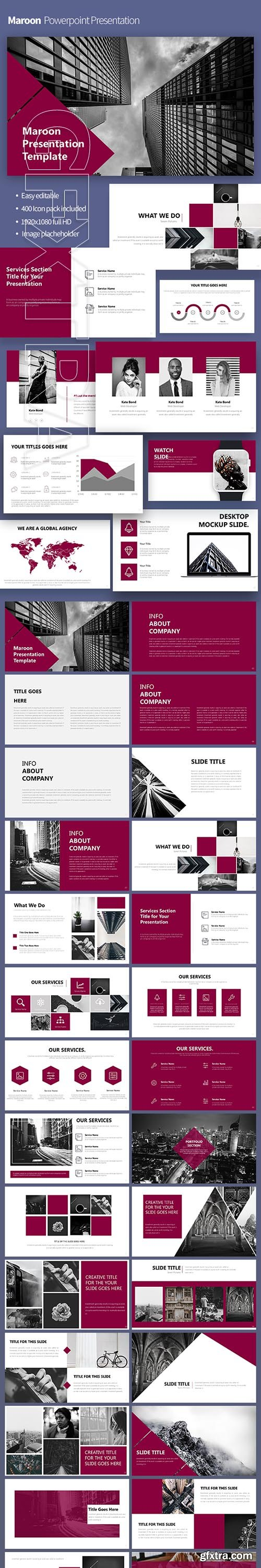 GraphicRiver - Maroon Powerpoint Template 22305396