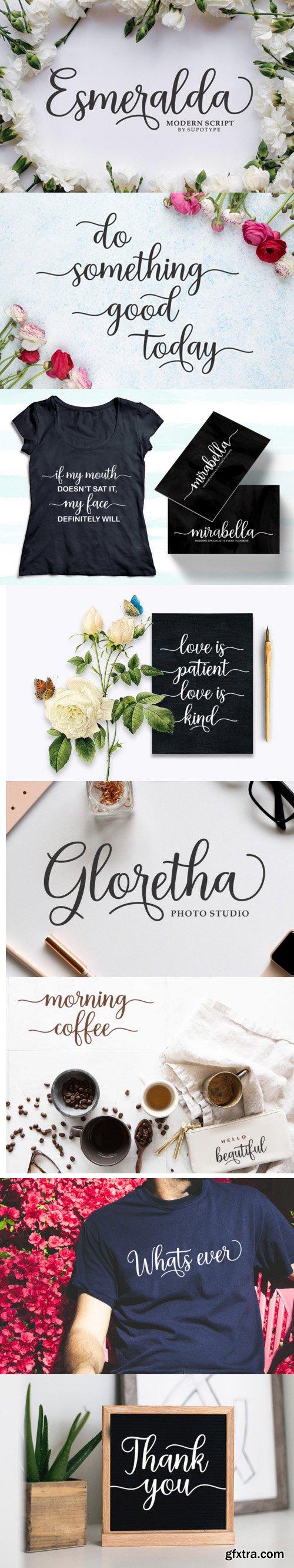 Esmeralda Script Font