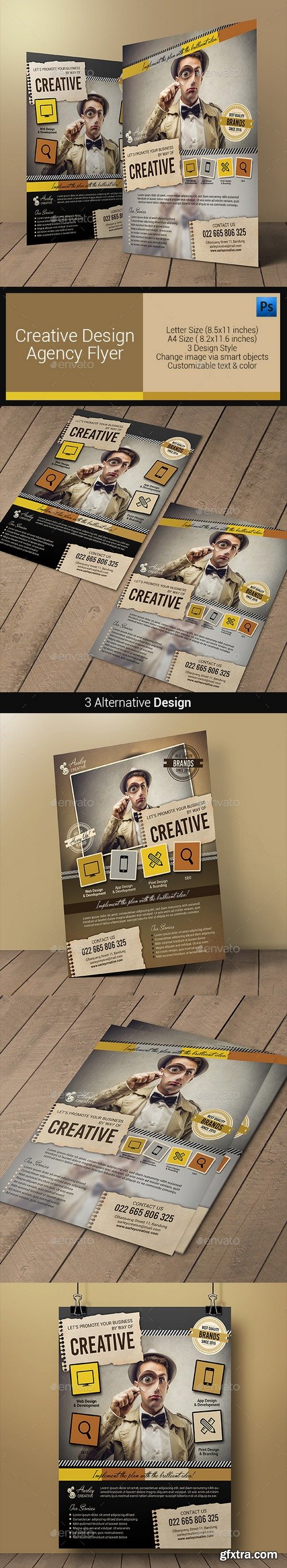Graphicriver - Creative Design Agency Flyers 10880677