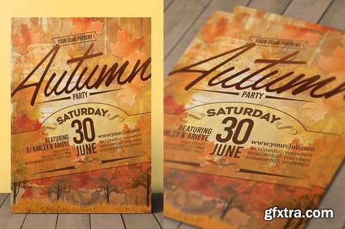 Autumn Event Flyer Invitation
