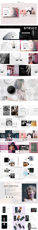 CreativeMarket - STRICT PowerPoint Template 2606682