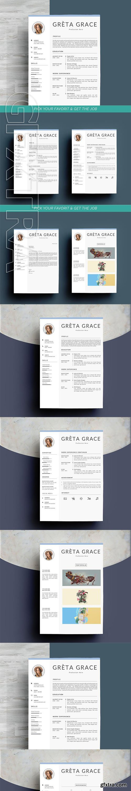 CreativeMarket - Professional Resume Template Clove 2606572
