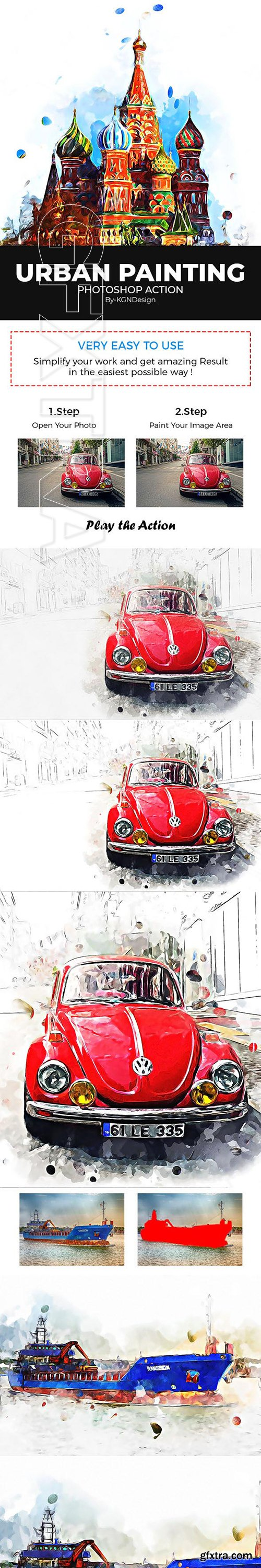 GraphicRiver - Urban Painting Photoshop Action 22230566