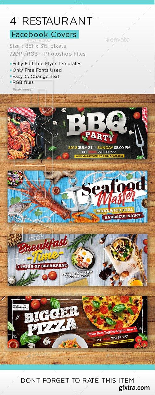 GraphicRiver - Restaurant Facebook covers 22329471