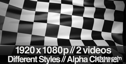 Videohive Checkered Finish Line Race Flag - Series of 2 1195854