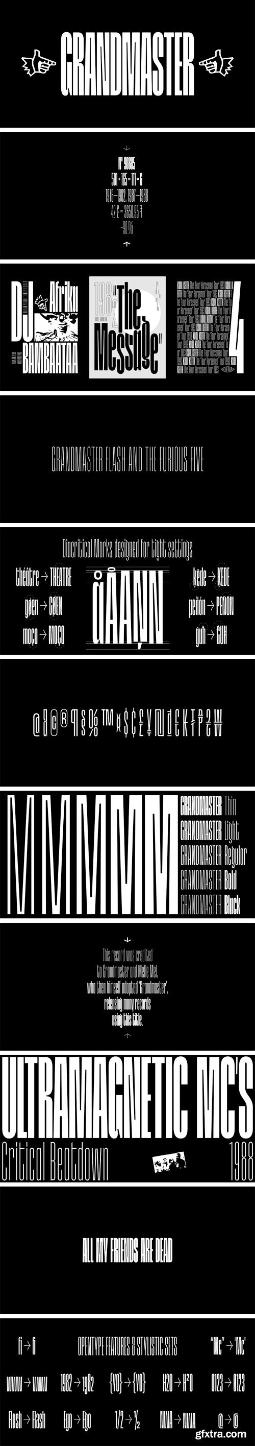 Grandmaster Font Family