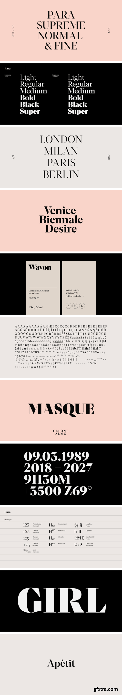 Para Supreme Font Family