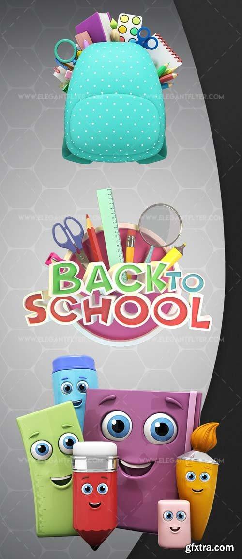 Back to school V4 2018 Premium 3d Render Templates