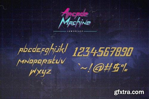 Arcade Machine 80\'s Retro Font