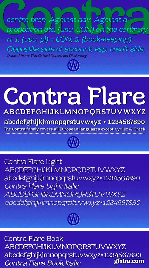 Contra Flare Font Family