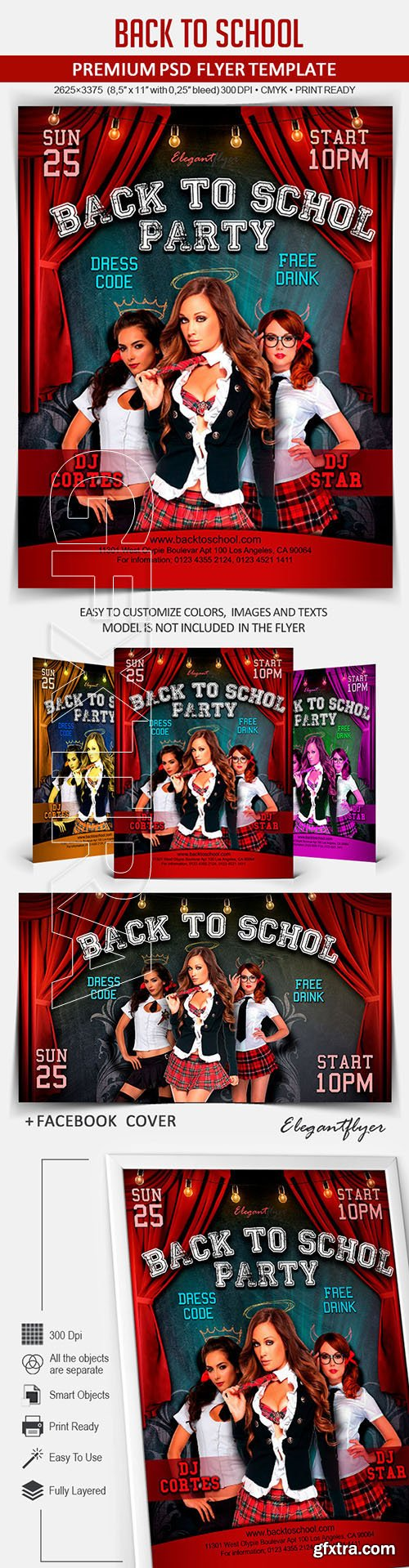 Back to school party – Flyer PSD Template