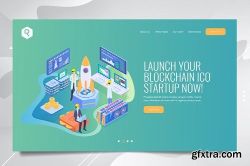 Bitcoin Web Header PSD Template Vol 03