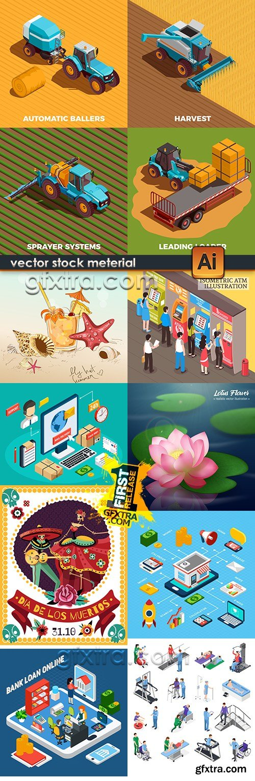 Modern big collection illustrations and elements design 39
