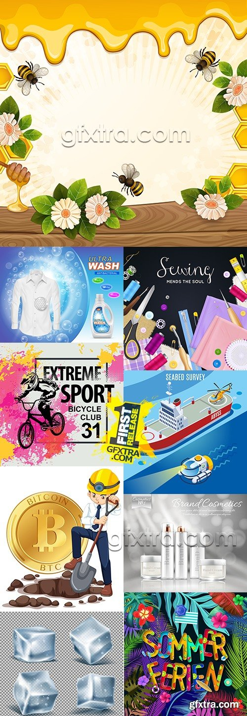 Modern big collection illustrations and elements design 40