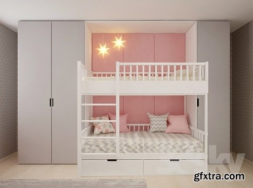 A set of furniture in the children\'s room