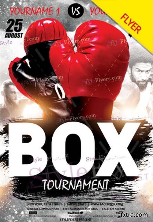 Box Tournament V1 2018 Flyer PSD