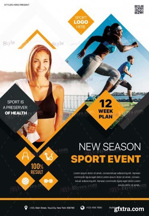 New Season Sport Event V1 2018 PSD Flyer Template