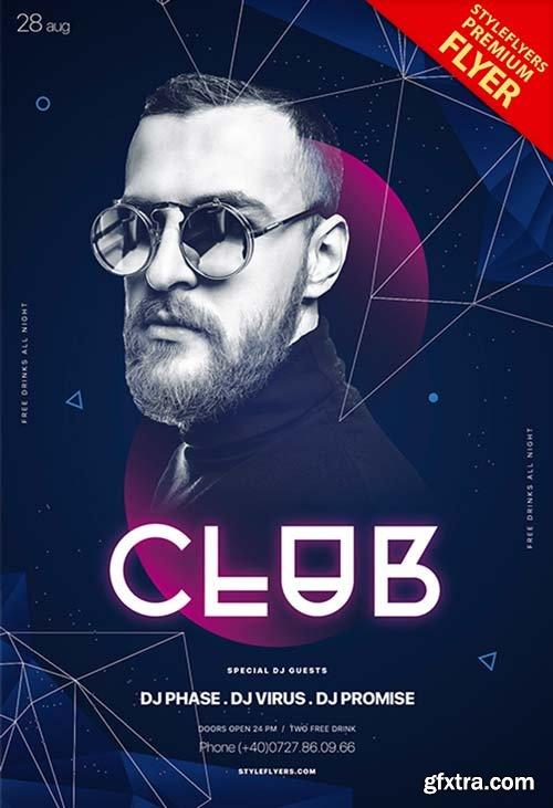 Club V22 2018 PSD Flyer Template