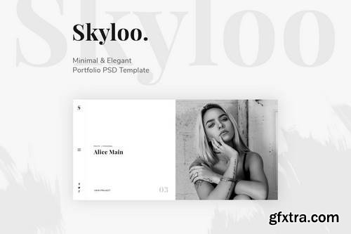 Skyloo - Minimal & Elegant Portfolio PSD Template